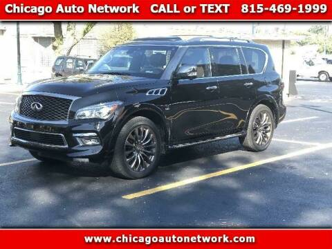 2017 Infiniti QX80 for sale at Chicago Auto Network in Mokena IL