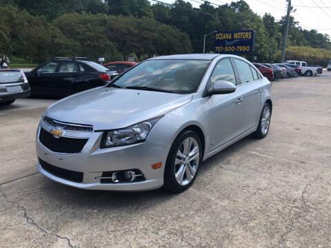 2014 Chevrolet Cruze for sale at Oceana Motors in Virginia Beach VA