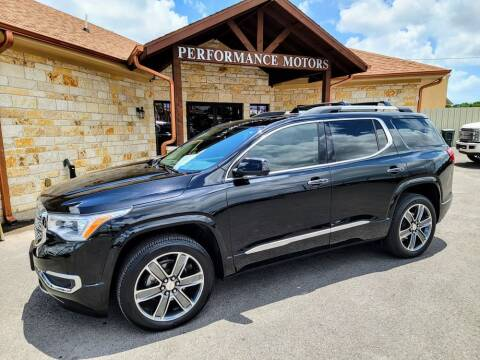 2019 GMC Acadia for sale at Performance Motors Killeen Second Chance in Killeen TX