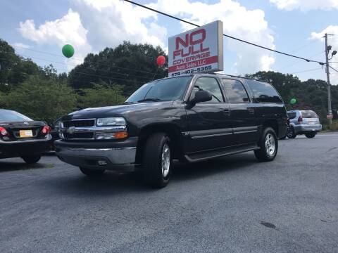 2004 Chevrolet Suburban for sale at No Full Coverage Auto Sales in Austell GA