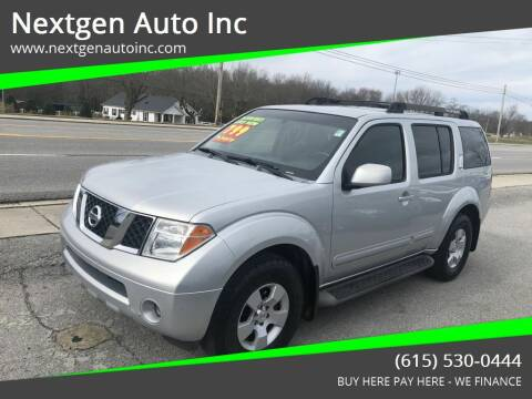 2007 Nissan Pathfinder for sale at Nextgen Auto Inc in Smithville TN