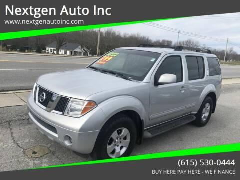 2007 Nissan Pathfinder for sale at Nextgen Auto Inc in Smithville TN