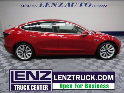 2018 Tesla Model 3 for sale at LENZ TRUCK CENTER in Fond Du Lac WI