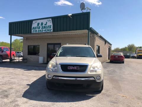 2009 GMC Acadia for sale at B & J Auto Sales in Auburn KY
