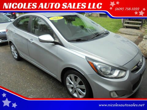 2012 Hyundai Accent for sale at NICOLES AUTO SALES LLC in Cream Ridge NJ