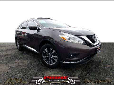 2016 Nissan Murano for sale at PRIME MOTORS LLC in Arlington VA