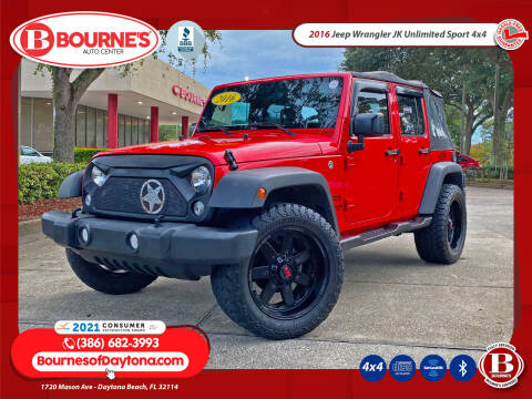 2016 Jeep Wrangler Unlimited for sale at Bourne's Auto Center in Daytona Beach FL