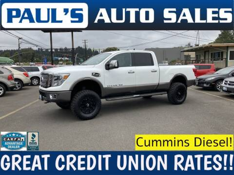2016 Nissan Titan XD for sale at Paul's Auto Sales in Eugene OR