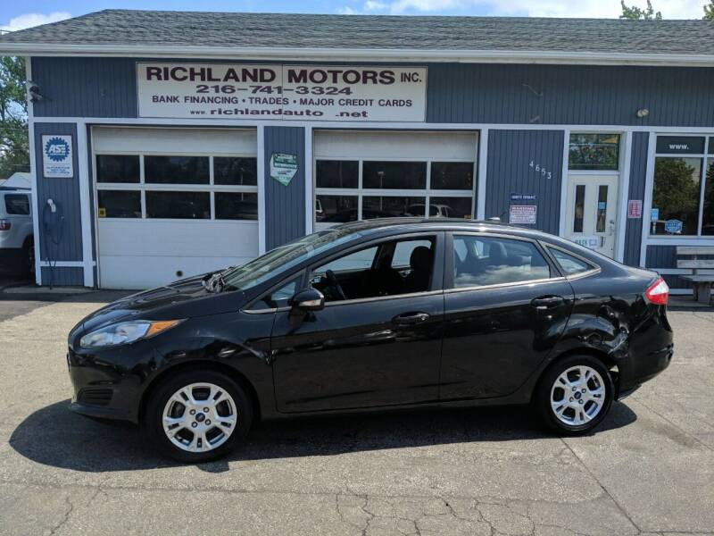 2014 Ford Fiesta for sale at Richland Motors in Cleveland OH