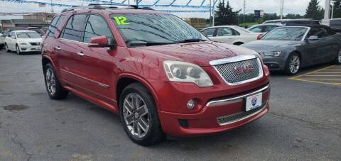 2012 GMC Acadia for sale at I-80 Auto Sales in Hazel Crest IL