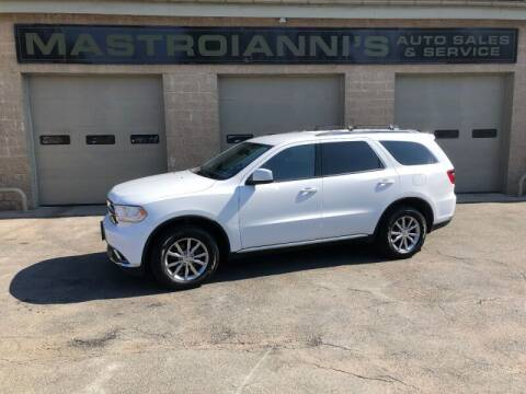 2017 Dodge Durango for sale at Mastroianni Auto Sales in Palmer MA