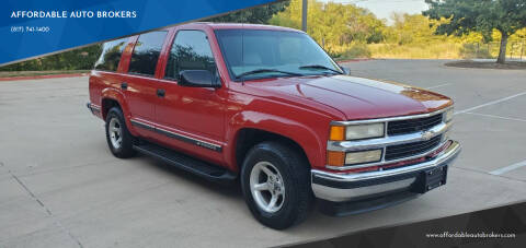 1999 Chevrolet Tahoe for sale at AFFORDABLE AUTO BROKERS in Keller TX