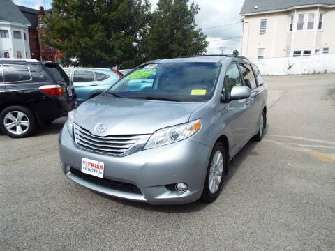 2012 Toyota Sienna for sale at FRIAS AUTO SALES LLC in Lawrence MA