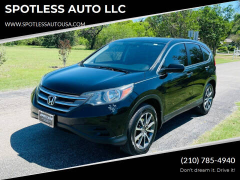 2014 Honda CR-V for sale at SPOTLESS AUTO LLC in San Antonio TX
