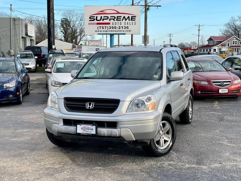 2004 Honda Pilot for sale at Supreme Auto Sales in Chesapeake VA