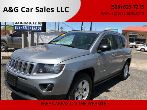 2014 Jeep Compass for sale at A&G Car Sales  LLC in Tucson AZ