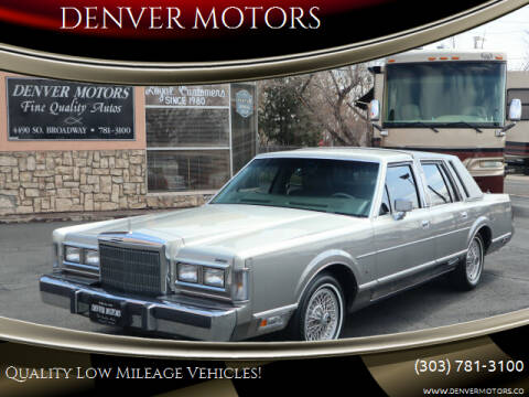 1988 Lincoln Town Car for sale at DENVER MOTORS in Englewood CO