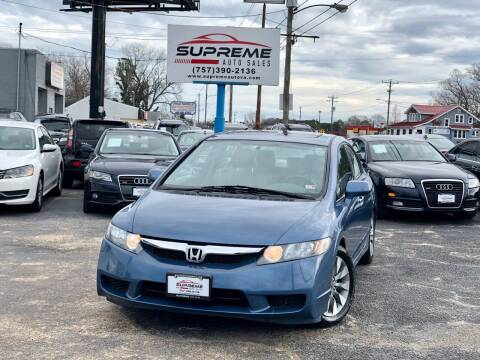 2009 Honda Civic for sale at Supreme Auto Sales in Chesapeake VA