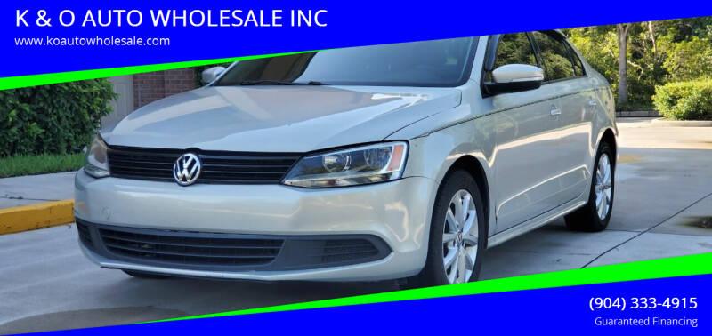 2011 Volkswagen Jetta for sale at K & O AUTO WHOLESALE INC in Jacksonville FL