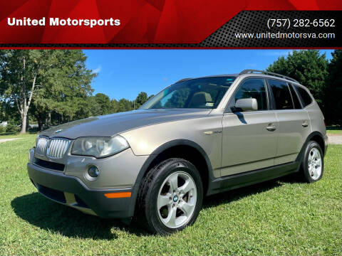 2008 BMW X3 for sale at United Motorsports in Virginia Beach VA