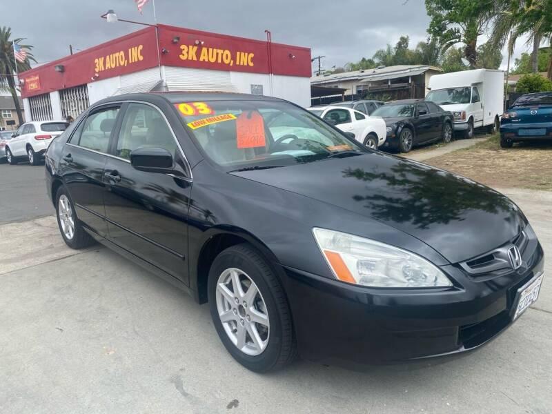 2003 Honda Accord for sale at 3K Auto in Escondido CA