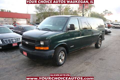 2004 Chevrolet Express Passenger for sale at Your Choice Autos - Waukegan in Waukegan IL