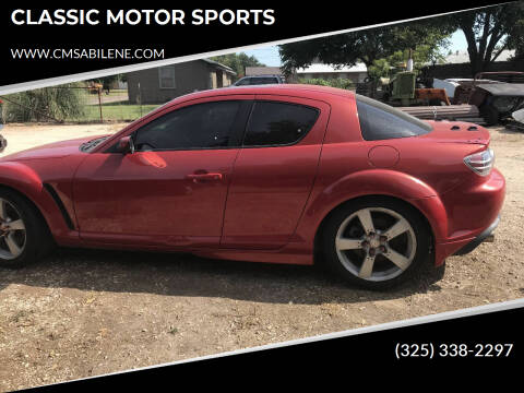 2004 Mazda RX-8 for sale at CLASSIC MOTOR SPORTS in Winters TX