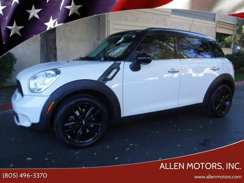 2012 MINI Cooper Countryman for sale at Allen Motors, Inc. in Thousand Oaks CA