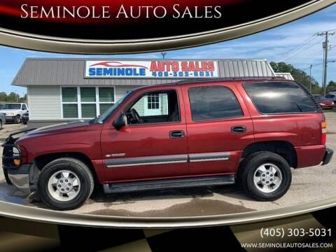 2003 Chevrolet Tahoe for sale at Seminole Auto Sales in Seminole OK