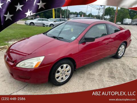 2003 Honda Accord for sale at ABZ Autoplex, LLC in Baton Rouge LA