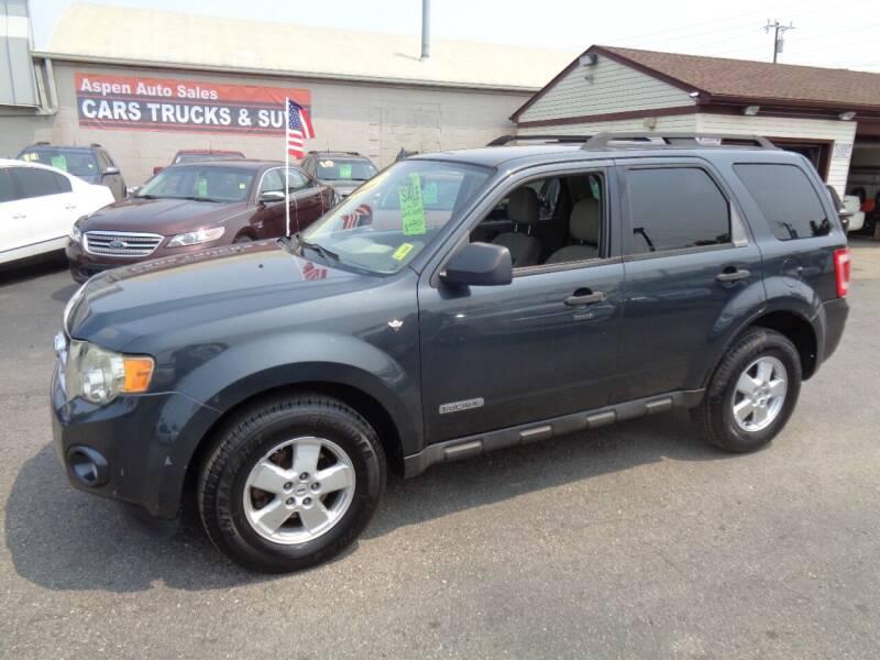 2008 Ford Escape for sale at Aspen Auto Sales in Wayne MI