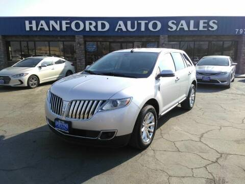 2013 Lincoln MKX for sale at Hanford Auto Sales in Hanford CA