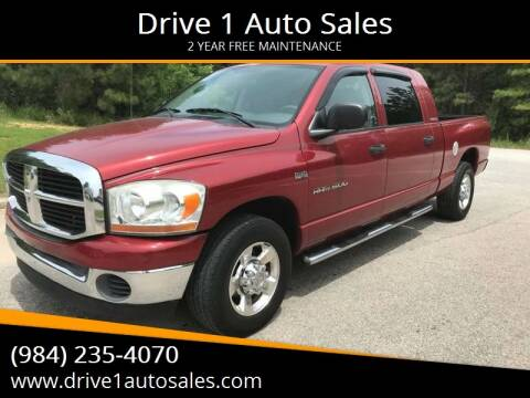 2006 Dodge Ram Pickup 1500 for sale at Drive 1 Auto Sales in Wake Forest NC