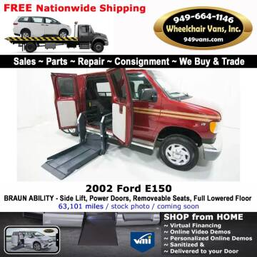 2002 Ford E-Series Cargo for sale at Wheelchair Vans Inc - New and Used in Laguna Hills CA