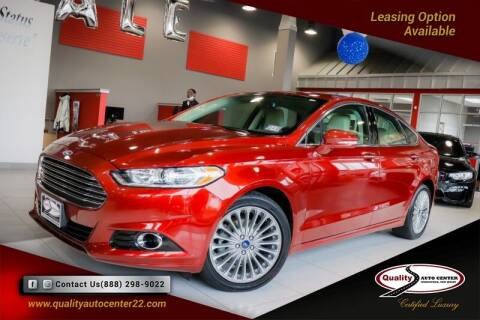 2014 Ford Fusion for sale at Quality Auto Center in Springfield NJ