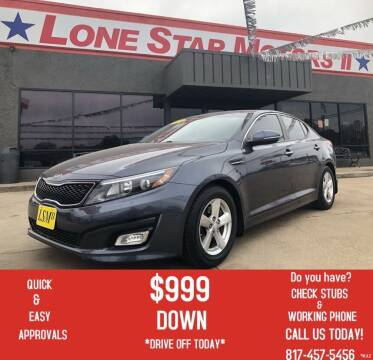 2015 Kia Optima for sale at LONE STAR MOTORS II in Fort Worth TX