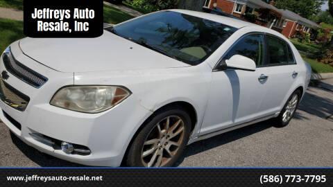 2009 Chevrolet Malibu for sale at Jeffreys Auto Resale, Inc in Clinton Township MI