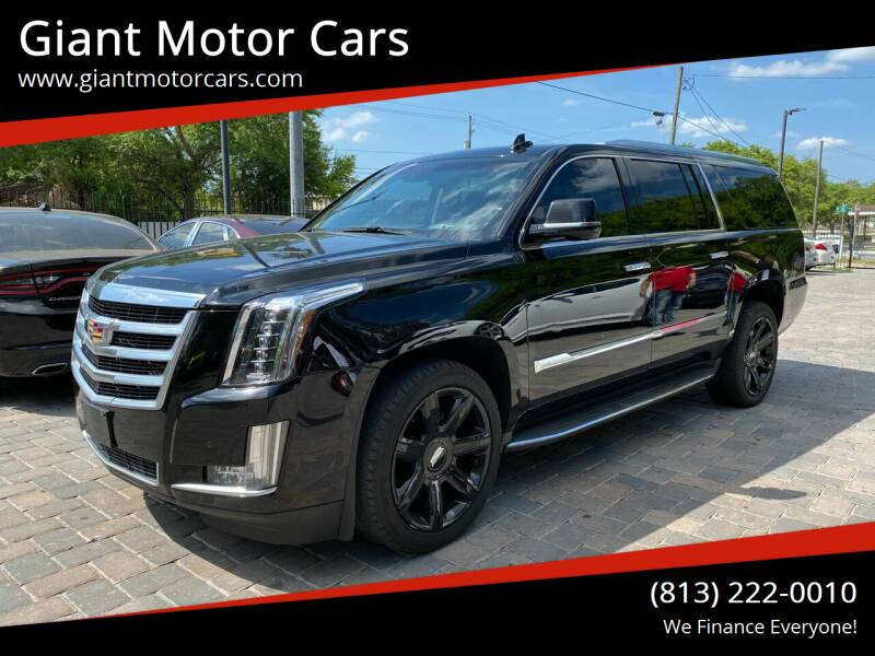 2016 Cadillac Escalade ESV for sale at Giant Motor Cars in Tampa FL