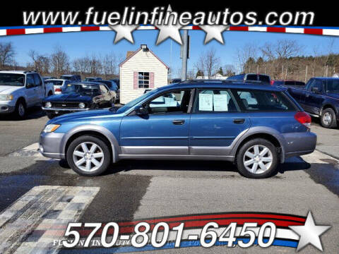 2008 Subaru Outback for sale at FUELIN FINE AUTO SALES INC in Saylorsburg PA