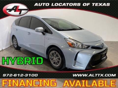 2015 Toyota Prius v for sale at AUTO LOCATORS OF TEXAS in Plano TX