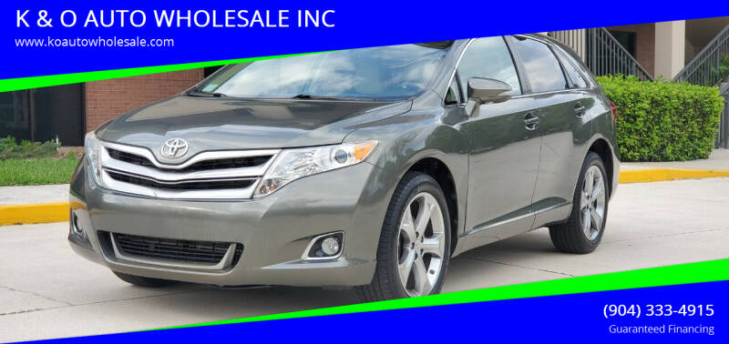 2014 Toyota Venza for sale at K & O AUTO WHOLESALE INC in Jacksonville FL