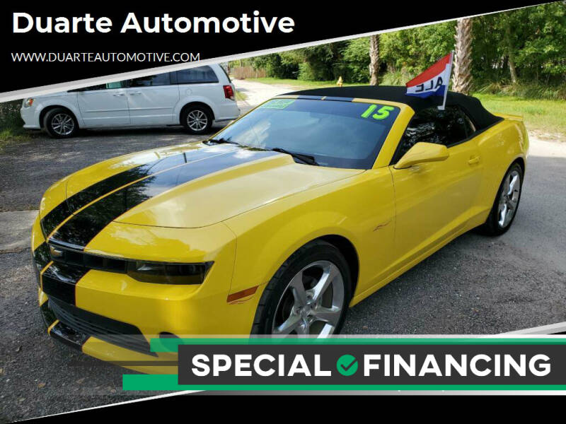 2015 Chevrolet Camaro for sale at Duarte Automotive in Jacksonville FL