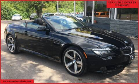 2008 BMW 6 Series for sale at USA AUTO CENTER in Austin TX