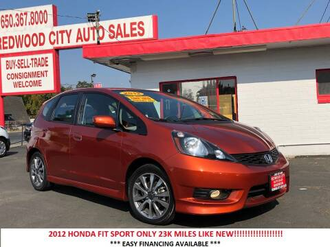 2012 Honda Fit for sale at Redwood City Auto Sales in Redwood City CA
