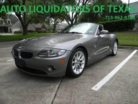 2005 BMW Z4 for sale at AUTO LIQUIDATORS OF TEXAS in Richmond TX
