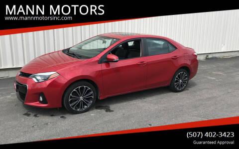 2014 Toyota Corolla for sale at MANN MOTORS in Albert Lea MN