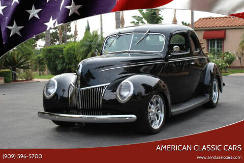 1939 Ford Deluxe for sale at American Classic Cars in La Verne CA