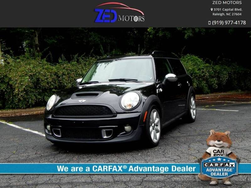 2011 MINI Cooper Clubman for sale at Zed Motors in Raleigh NC