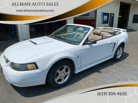 2003 Ford Mustang for sale at ALLMAN AUTO SALES in San Diego CA