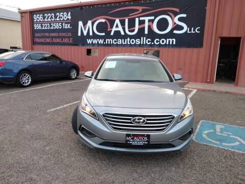 2016 Hyundai Sonata for sale at MC Autos LLC in Pharr TX